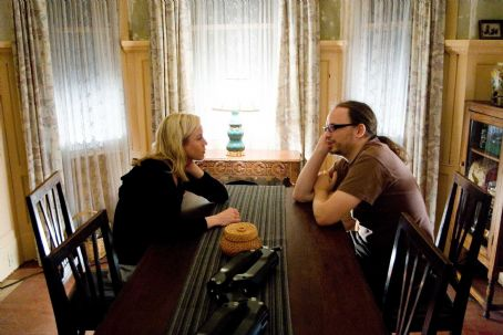 Left to right: Actress Renée Zellweger (who plays Emily Jenkins) confers with director Christian Alvart on the set of Paramount Vantage's 'Case 39.' Photo credit: Shane Harvey