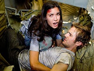 Michael Stahl-David Odette Yustman and  in Cloverfield