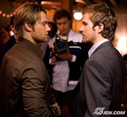 Michael Stahl-David Mike Vogel and  in Cloverfield