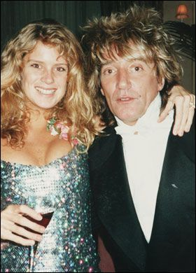 Rod Stewart Rachel Hunter and