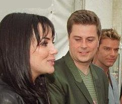 Ricky Martin , some dude & Martine McCutcheon