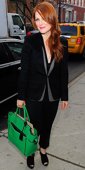 Julianne Moore at the Reed Krakoff Fall 2012 Fashion Show