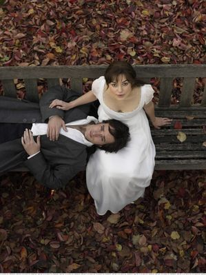 Matthew Macfadyen Keira Knightley as Elizabeth Bennett and Matthew MacFadyen as Mr.Darcy in Pride & Prejudice (2005)