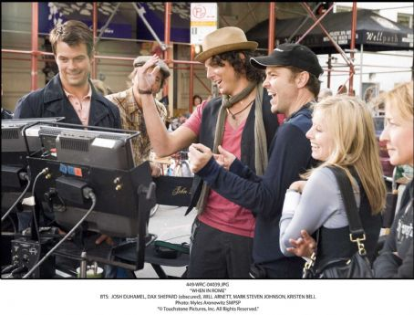 Will Arnett - BTS: JOSH DUHAMEL, DAX SHEPARD (obscured), WILL ARNETT, MARK STEVEN JOHNSON, KRISTEN BELL. Photo: Myles Aronowitz SMPSP. '© Touchstone Pictures, Inc. All Rights Reserved.'