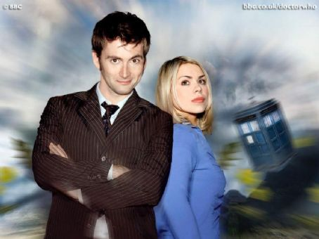 Doctor Who Billie Piper and David Tennant in