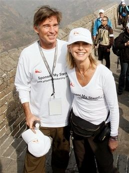 Olivia Newton-John and John Easterling