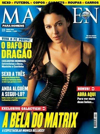 Monica Bellucci - Maxmen Magazine Cover [Portugal] (June 2003)