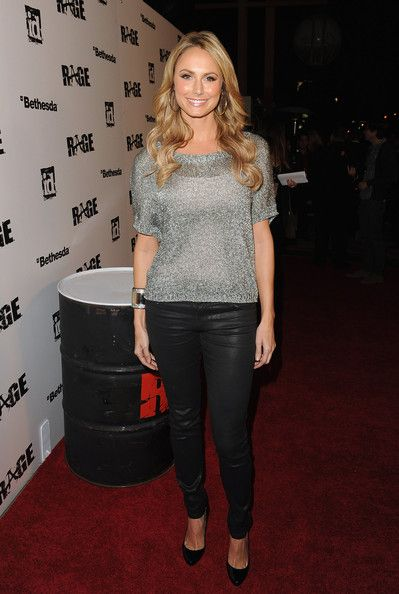 Stacy Keibler arrives at RAGE Official Launch Party at Chinatown's Historical Central Plaza on September 30, 2011 in Los Angeles, California
