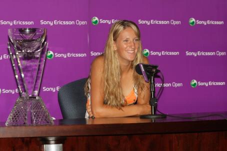 Victoria Azarenka  - Sony Ericsson Open In Key Biscayne, Florida - Press Conference - 04.04.2009