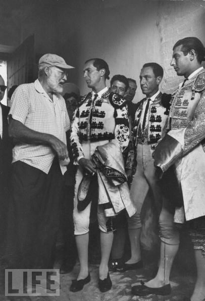Matador Luis Miguel Dominguin with American writer Ernest Hemingway Aug 01, 1959