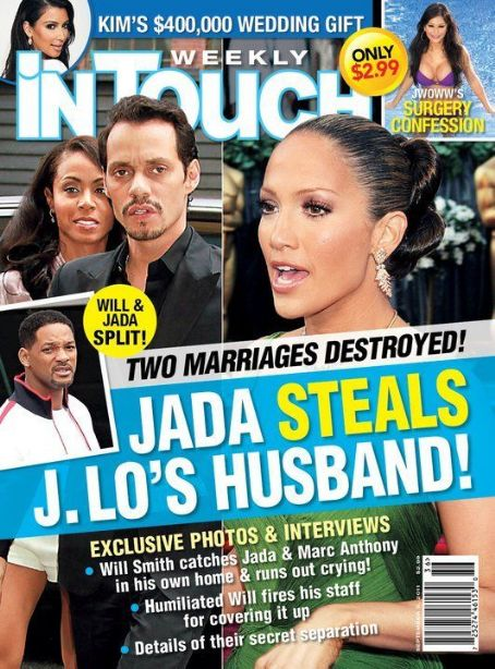 Jennifer Lopez, Marc Anthony, Will Smith, Jada Pinkett Smith - In Touch Weekly Magazine Cover [United States] (5 September 2011)