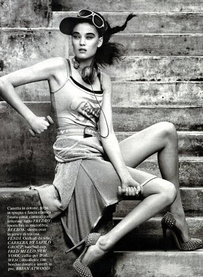 Diana Moldovan  Glamour Italy March 2010