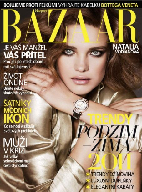 Natalia Vodianova - Harper's Bazaar Magazine Cover [Czech Republic] (September 2011)
