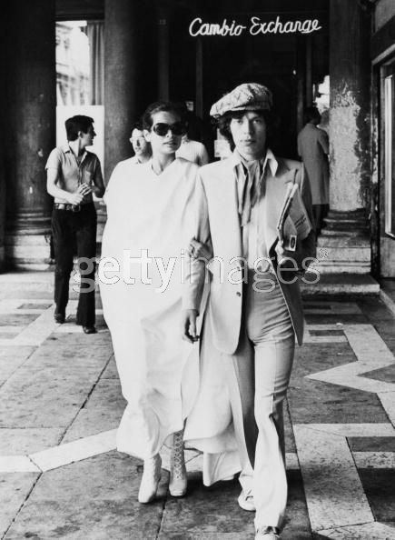 Bianca Jagger  and Mick