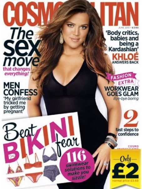 Khloé Kardashian - Cosmopolitan Magazine Cover [United Kingdom] (June 2013)
