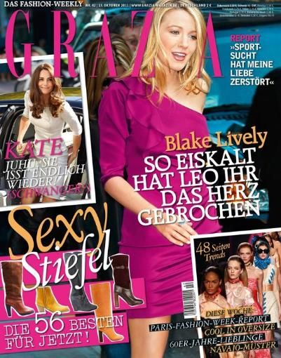Blake Lively - Grazia Magazine Cover [Germany] (13 October 2011)