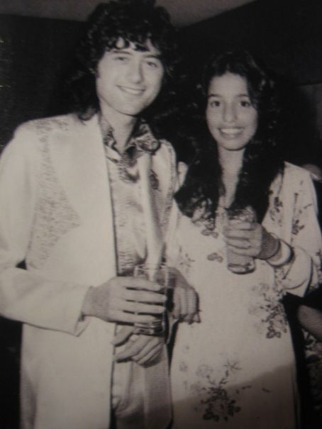 Jimmy Page and Lori Maddox