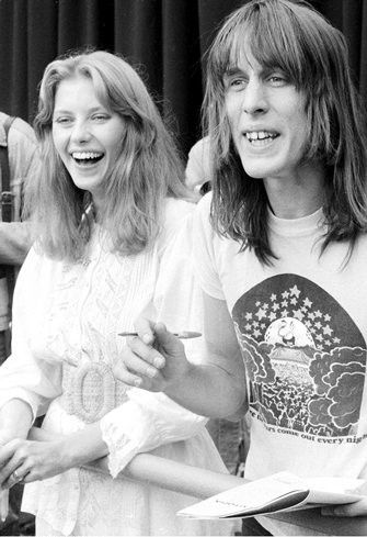 Todd Rundgren Bebe Buell and , Knewborth 1976