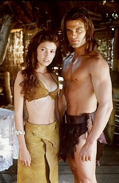 Casper Van Dien Jane March and  in Tarzan and the Lost City (1998)