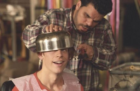 Lloyd Christmas - Lloyd (Eric Christian Olsen) gets his signature bowl cut by his father Ray (Luis Guzman) in New Line Cinema's upcoming comedy, Dumb and Dumberer: When Harry Met Lloyd.