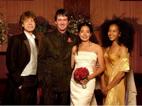 Mick Jagger and Marsha Hunt - Mick Jagger, Marsha Hunt and family at Karis Jagger Wedding