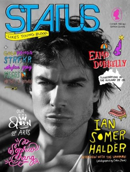 Ian Somerhalder Covers Status Magazine