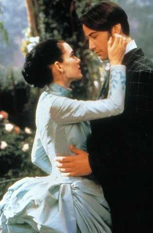 Dracula Keanu Reeves as Jonathan Harker and Winona Ryder as Mina in Bram Stocker´s  (1992).
