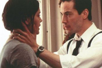 Mary Ann Lomax Keanu Reeves and Charlize Theron in The devil´s advocate (1997)