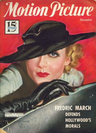 Carole Lombard - Motion Picture Magazine [United States] (November 1934)