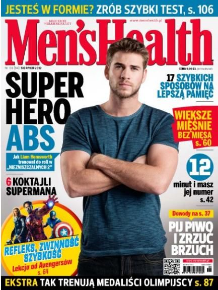 Liam Hemsworth - Men's Health Magazine Cover [Poland] (August 2012)