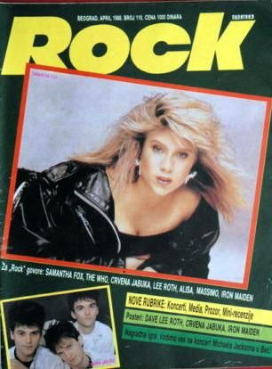 Samantha Fox - Exyu Magazine Cover [Yugoslavia (Serbia and Montenegro)] (April 1988)