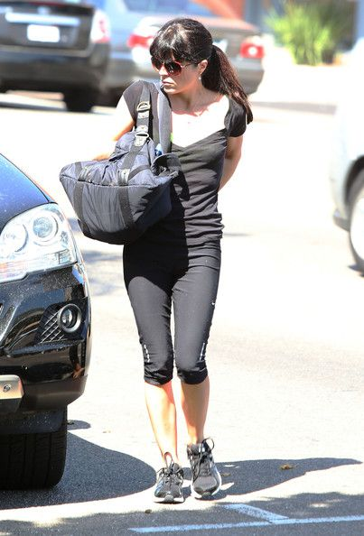 Selma Blair  headed to the gym in Los Angeles