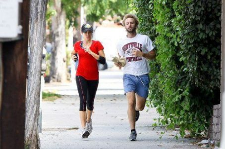 Nikki Reed and Paul McDonald - Nikki Reed and husband, Paul McDonald running in Studo City, CA (July 10)