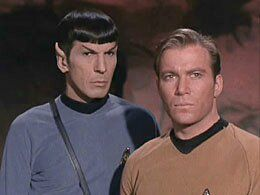William Shatner  and Leonard Nimoy in