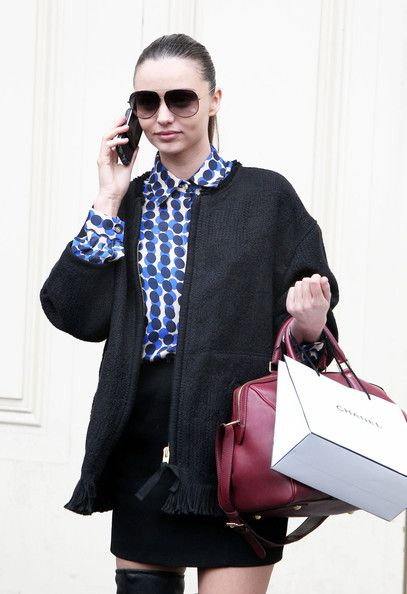 Miranda Kerr is spotted out during Paris Fashion Week on March 6, 2012 in Paris, France