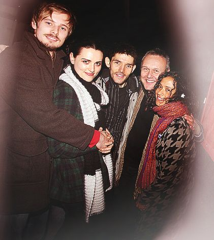 Angel Coulby and Bradley James starry-eyed surprise.