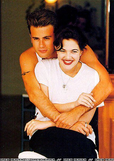 Drew Barrymore and Jamie Walters at Cannes Film Festival, May 8th 1992.