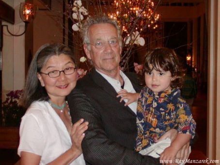 Dorothy Manzarek Ray Manzarek and Dorothy Fujikawa with their grandchild Noah