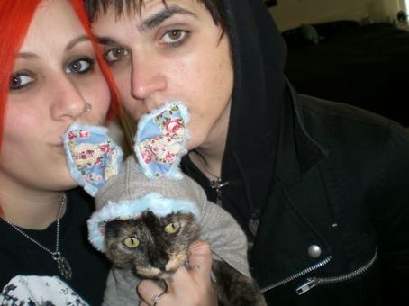 Mikey Way  and Alicia Simmons