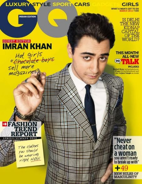 Imran Khan GQ India March 2012