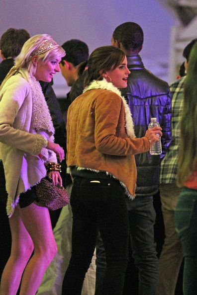 Emma Watson took in the final day of the first weekend of the Coachella music festival, April 15, in Indio, CA