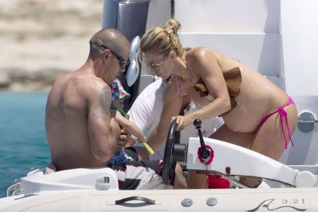 Víctor Valdés Vacations in Ibiza 2013