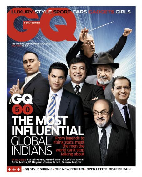 Salman Rushdie - GQ Magazine [India] (July 2010)