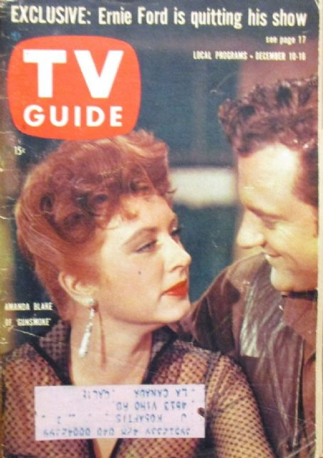 Amanda Blake - TV Guide Magazine Cover [United States] (10 December 1960)