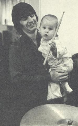 Jason Starkey  and dad Ringo, 1969