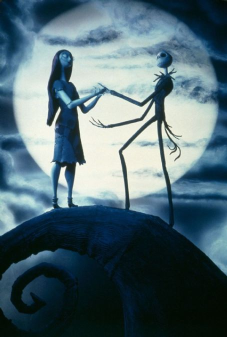 Chris Sarandon Sally/Shock (voiced by Catherine O'Hara) and Jack Skellington (voiced by ) in Tim Burton's, The Nightmare Before Christmas in Disney Digital 3D - 2006