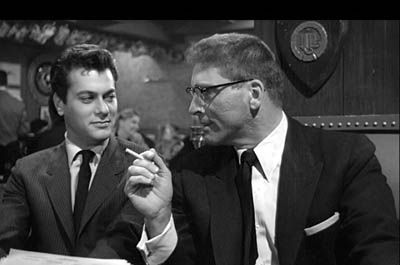 Burt Lancaster  and Tony Curtis in Sweet Smell of Success