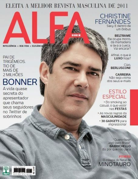 William Bonner - Alfa Magazine Cover [Brazil] (December 2011)
