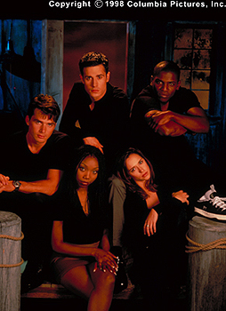 Clockwise from top left - Matthew Settle, Freddie Prinze Jr., Mekhi Phifer, Jennifer Love Hewitt and Brandy in Columbia's I Still Know What You Did Last Summer - 1998