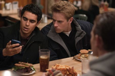 The Social Network Max Minghella, left, and Armie Hammer in Columbia Pictures' ',' starring Jesse Eisenberg. Photo By: Merrick Morton